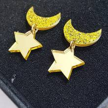 Fashion and Personality The stars And  Moon Pendant Earrings Sailor Moon LUNA Earring  For Women /Girl майка борцовка print bar girl and moon
