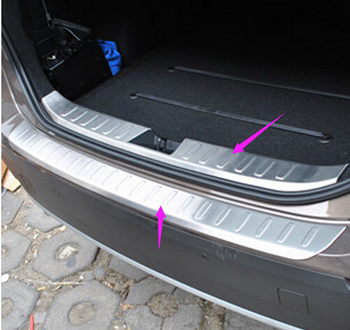 ACCESSORIES FIT FOR 2013 2014 2015 for X1 E84 REAR BUMPER PROTECTOR  BOOT COVER SILL PLATE 2pcs
