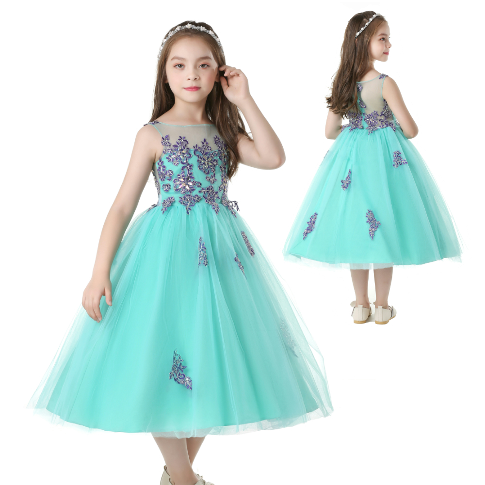 Aliexpress.com : Buy Free Shipping Mint Green Girl Party Dress For 6 ...