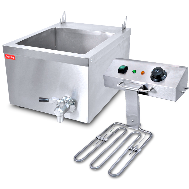 220V Commercial Electric Fryer French Fries Chicken Frying Machine Single Cylinder Stainless Steel Electric Fryer EU/AU/UK commercial double screen cylinder electric deep fryer french fries machine oven pot frying machine fried chicken row eu us plug