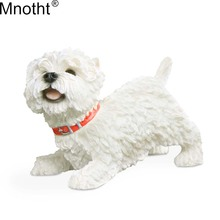 Mnotht 1/6 Britain Look Up West Highland Terrier Hund Modell Dog Resin For Action Figursamling Toy Toy Accessory md