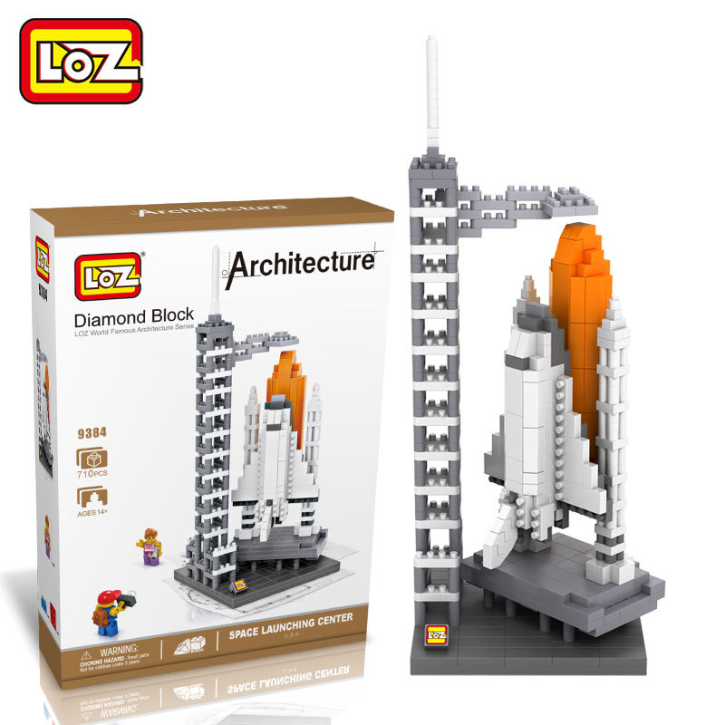 LOZ Architecture Space Shuttle Mini Diamond Nano Building Blocks Toys LOZ Space Shuttle DIY Bricks Action Figure Children Toys