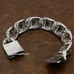 Image 3 - 5 длин огромный тяжелый 316L браслет из нержавеющей стали Пиратский череп мужской байкер рок панцирный браслет 5T002