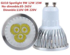 Image 2 - Lâmpada led de alta qualidade gu10, 9w, 12w, 15w, regulável, 110v, 220v lâmpada de ângulo com 60 feixe, branco quente/puro/frio