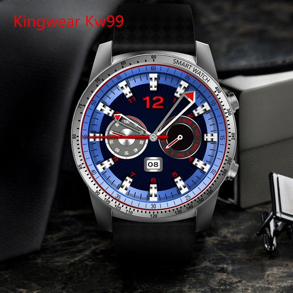 Kingwear KW99 3G Smartwatch Phone Android 5.1 1.39 inch MTK6580 Quad Core 1.3GHz 8GB ROM Heart Rate Monitor Pedometer