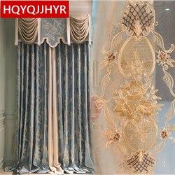 Europejskie luksusowe wysokiej klasy niestandardowe żakardowe zasłony zaciemniające do salonu okna klasyczne wysokiej jakości zasłony do sypialni