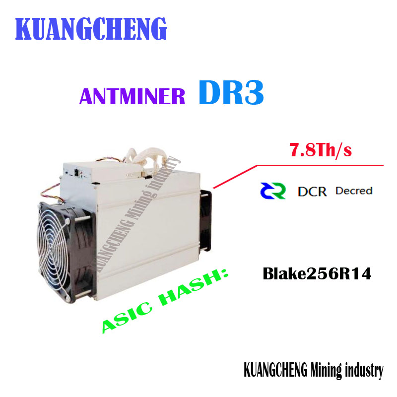 Newest DCR Miner Antminer DR3 7.8TH/S Asic Blake256R14 Miner Better Than WhatsMiner D1 Innosilicon D9 FFMINER DS19 D18 Z9 Mini new style decred miner innosilicon d9 siamaster pow algorithm 2 4th s 900w for decred