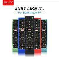 SIKAI Suave Funda de Silicona Para SONY Remoto Smart TV Caja Protectora de La Piel Para SONY RMF TX200C Control Remoto de Control cubierta