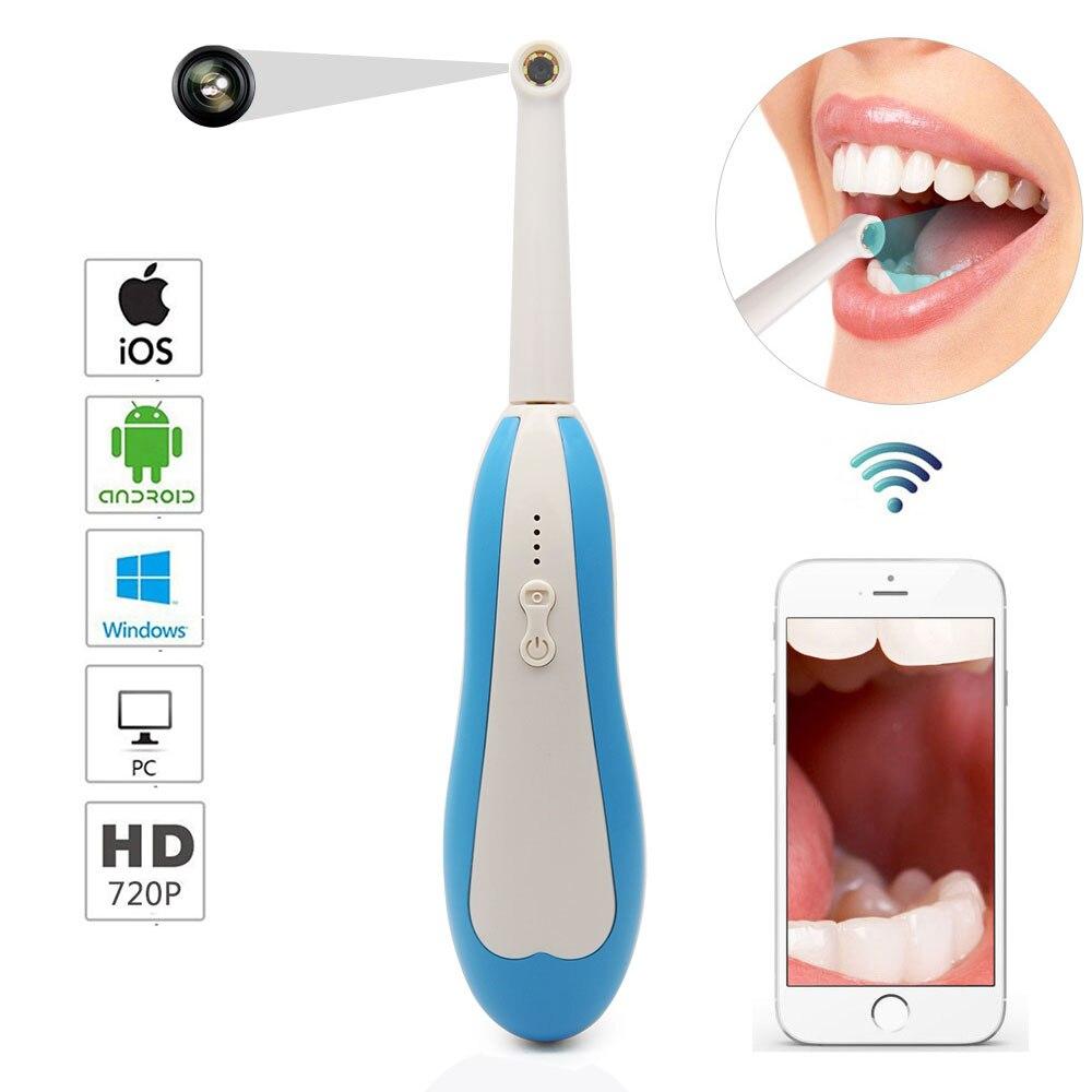 WiFi caméra dentaire sans fil HD Endoscope intra-oral lumière LED câble USB Inspection pour dentiste Oral en temps réel vidéo outils dentaires