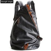 купить Fashion Men Luxury PU Leather Backpack Leisure Vintage Backpack Male School Bags Black Rucksack Mochila Travel Bag по цене 2012.88 рублей