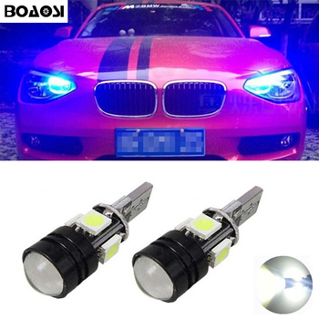 BOAOSI 2x W5W LED Wedge Light Marker Lamp Bulb Canbus Error Free For BMW E46 E39 E91 E92 E93 E61 F11 E63 E64 E70 E71 E60 image