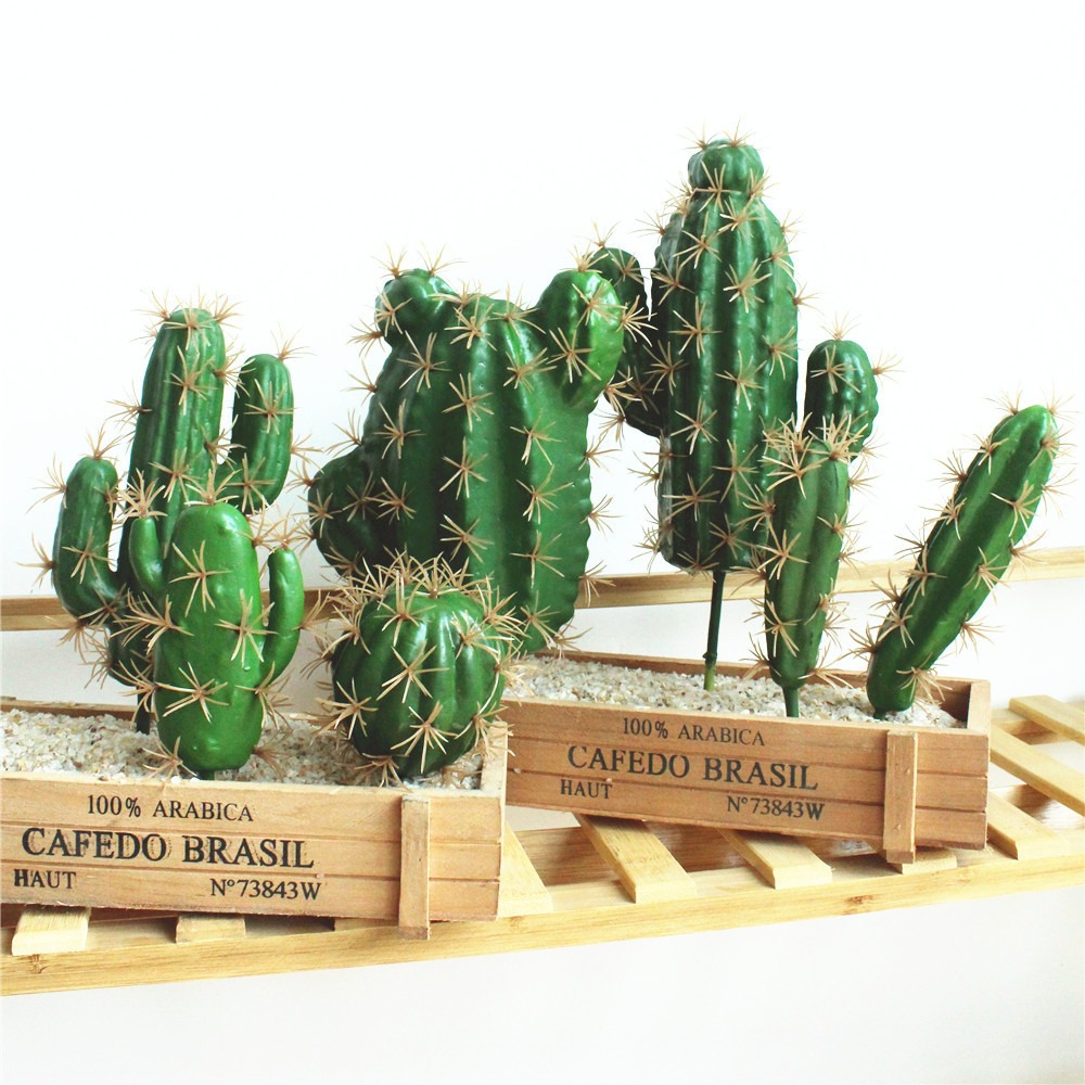 Foreign Trade Excellent Products Artificial Succulent Plant Cactus Green Plant Desktop Creative DIY Fake Plant Table Holiday 29-2