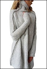 Preself-Women-warm-Pullover-Jumper-Outwear-Tops-High-Neck-Loose-Thickening-Oversize-Autumn-Winter-Batwing-Sleeve