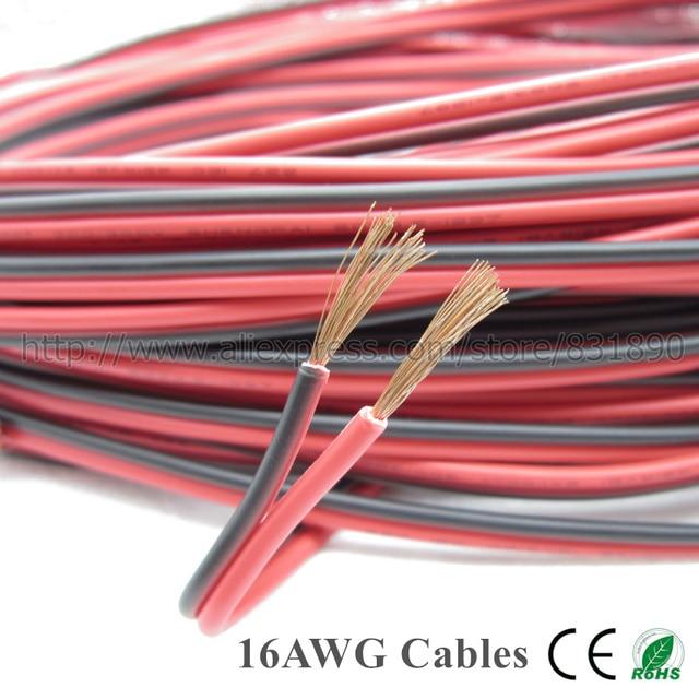 10 mt 16AWG Elektrischen draht LED kabel UL2468 IEC 42 RVB 300 V ...
