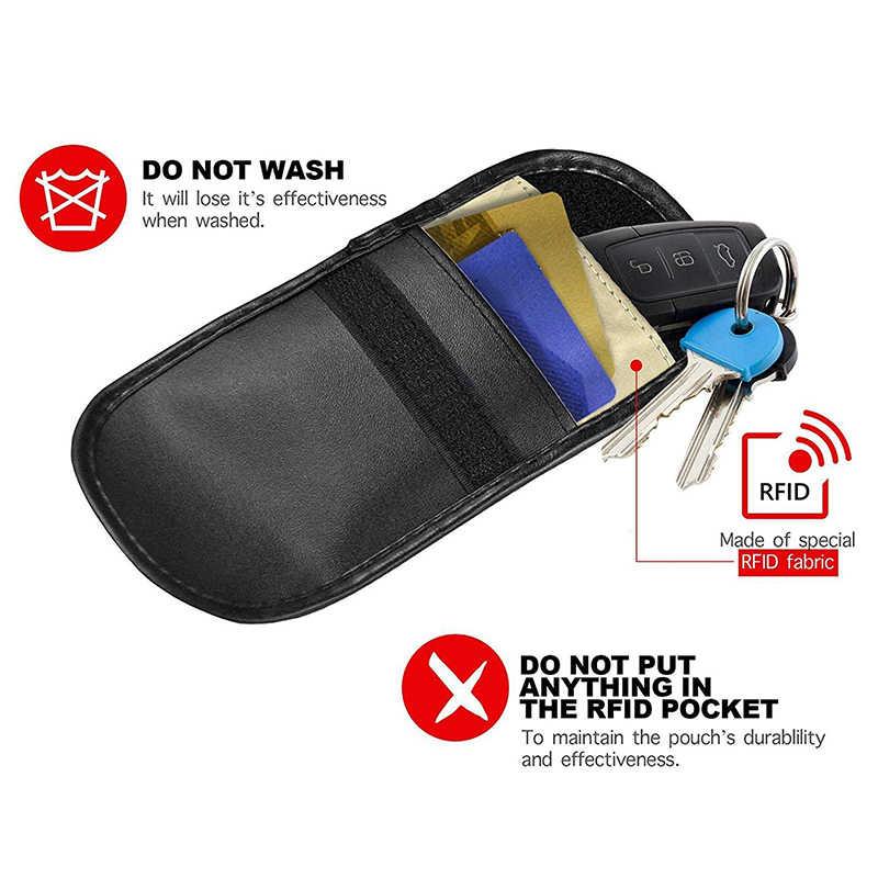 Блокировка сигнала Ключа Автомобиля Блокатор бесключевого входа Противоугонная Fob сумка ключ сигналы