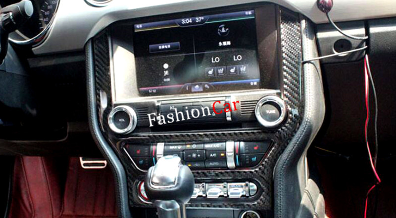 For Ford mustang 2013 2014 2015 2016 Interior Middle Console Decoration Cover Trim 1pcs купить