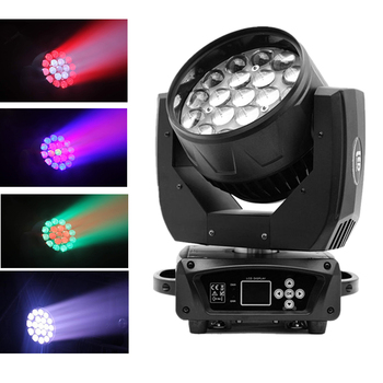 LED Wash Zoom Moving Head Light/19х15 Вт RGBW 4в1 DMX512 Wash Beam Effect Stage Lights/19 Eyes Bee Stage Light LED Stage Machine