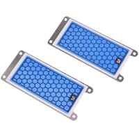 2 pièces Portable en céramique générateur d'ozone Double intégré plaque en céramique ozoniseur Air eau purificateur d'air Parts-5G