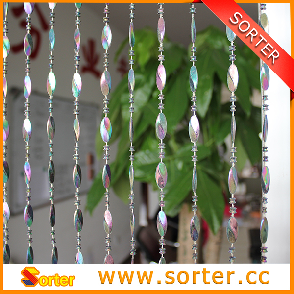 Plástico perlas colgantes cortina de puerta de la decoración del ...