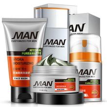 Brand Man Face Care makeup set,Fashion Men cosmetics kit,Anti-wrinkle concealer Oil-control Toner,Moist face cream Cleanser