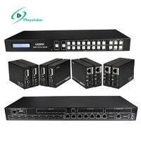 Hdmi matrix 8x8 8 em 8 para fora e quatro vias hdmi extensor 164ft/50m suporte 3d 1080p rs232 tcp/ip ircontrol