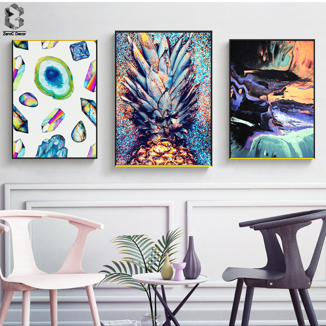 Illusion Wall Art Print And Poster Nordic Canvas Paintings For Living Room Decoration Modern