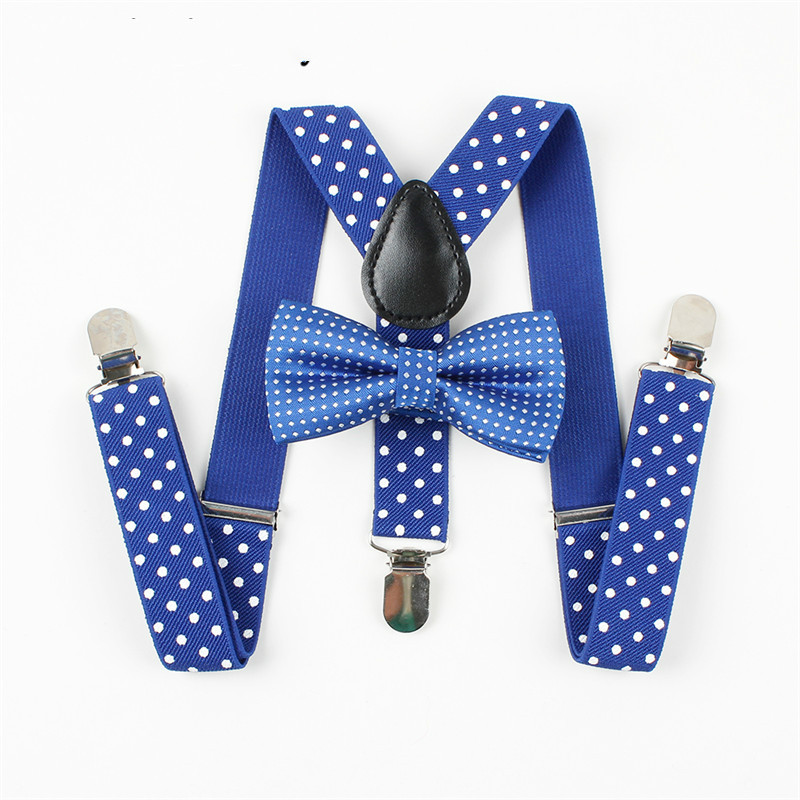 Mantieqingway Boys Gilrs Suspender Bowties Set For Children Wedding Bowties Suspenders B ...
