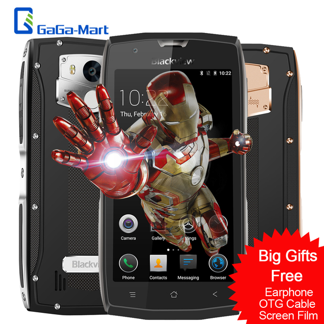 "Blackview BV7000 Pro Мобильный Телефон Android 6.0 MTK6750T Octa Ядро 4 Г + 64 ГБ OTG Отпечатков Пальцев IP68 Водонепроницаемый 5.0 ""дюймовый 4 Г Смартфон"