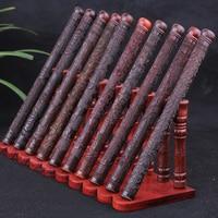 Viet Nam-tube rouge acide bois Kwan-yin Yin prajna paramita Heart Sutra exquis palissandre encens tube