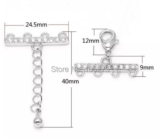 Four rows of pearl clasp, manual accessories materials,DIY