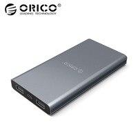 Внешний аккумулятор ORICO 10000 мАч с двойным выходом  портативное зарядное устройство для мобильного телефона для Samsung Xiaomi