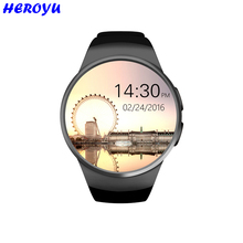 Neueste KW18 Smart Uhr Bluetooth SmartWatch Unterstützung SIM TF Karte Fitness Armbanduhr Herzfrequenz für Apple Samsung Getriebe S2 Huawei