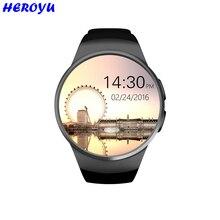 Lo nuevo kw18 apoyo tf tarjeta sim reloj inteligente bluetooth smartwatch reloj del ritmo cardíaco de la aptitud para apple samsung gear s2 huawei