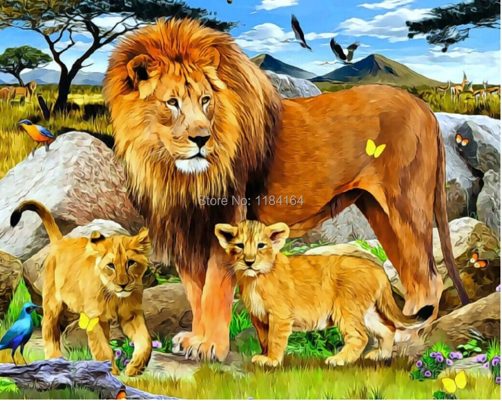 Lion Family Painting