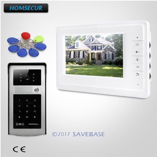 HOMSECUR 7inch Video Door Intercom System With Mute Mode For Home Security For Apartment 1V1