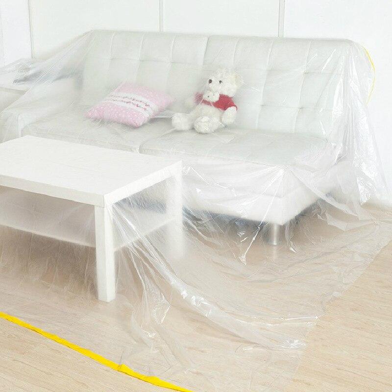 Прозрачный LDPE площади Пылезащитный чехол для дома Гостиная пыли Полотенца диван крышка Кофе Скатерти Водонепроницаемый скатерть LG011