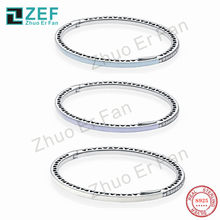 TIFZEF pan 925 Sterling Silver Bracelet for women,Colorful Original Classic LOGO Luxury Fashion Women Jewelry Gift(China)