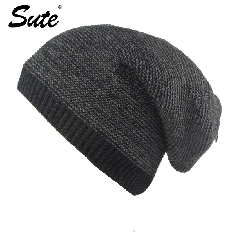 sute Knitted Hat Skullies Beanies Men Winter Hats For Men Women Bonnet Fashion Caps Warm Baggy Soft Brand Cap Mens Casual M-369 skullies