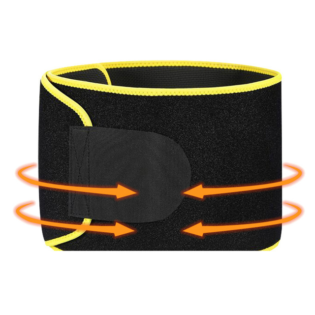 Adjustable Waist Tummy Trimmer Slimming Sweat Belt Fat Burn Shaper Wrap Band Weight Loss Exercise back support for lift 3