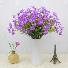 Искусственные цветы для дома, улицы, свадьбы, дома, офиса, украшения, праздничный интерьер, шелковые искусственные орхидеи, цветы