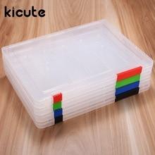 Kicute, уникальный, A4, прозрачный файл, прозрачный, для документов, пластиковый, чехол для документов, Настольная бумага, органайзеры, держатели, коробка для хранения, офисные, школьные принадлежности