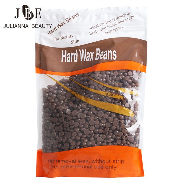 1X300g Depilación Papel Libre De Granos de Cera Dura 300 g/bolsa Sabor a Chocolate Sin Dolor Depilación Rápida en Gran Escala de Afeitar Del Pelo eliminación