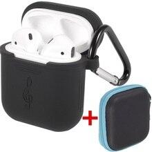 Acessórios portáteis Caso/Set, saco de Carregador de Carregamento Capa Protetora de Silicone Anti-perdido à prova d' água para A Apple Air, vagens de Ouvido Fones de Ouvido