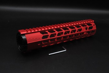 TriRock Red New Style 10'' inch Length Ultralight Keymod Handguard Fit .308 Rifle AR-10 / DMPS LR-308 Hand Guard Free Shipping