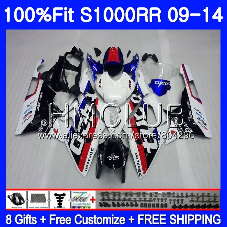 Injection For BMW S1000 RR S1000RR 09 10 11 12 13 14 Body Blue white 117HM