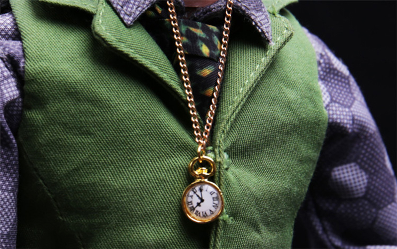 1:6 <font><b>Scale</b></font> Joker godfather Pocket watch Metal pendant necklace watch For Catwoman Blinkers F 12'' <font><b>Female</b></font> Figure image