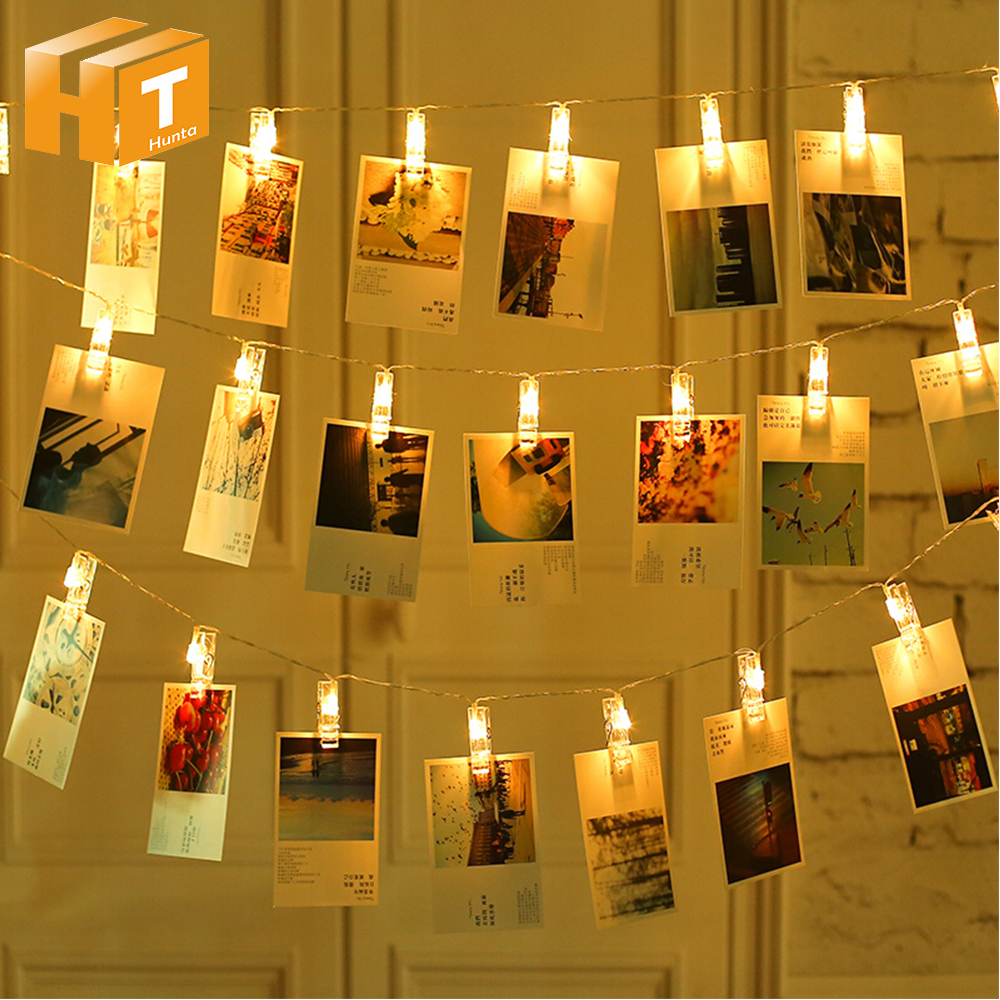 1M/2M/4M/10M Photo Clip USB LED String Lights Battery Operated Garland Fairy Lights For Christmas Wedding Party Xmas Decoration