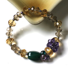 2015 new nobility  vintage agate bracelet crystal beads with naturl romantic and classical lady gift