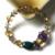 Presente de natal 2016 New Design Grânulos de Cristal Pulseira de Ágata com Naturl Ágata Pulseira Lady Presente Romântico e Clássico