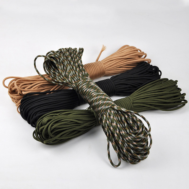3mm 30/50/100/300/feet Paracord Survival rope Parachute Cord Lanyard Rope Climbing Camping equipment Tent pull rope 7Strand